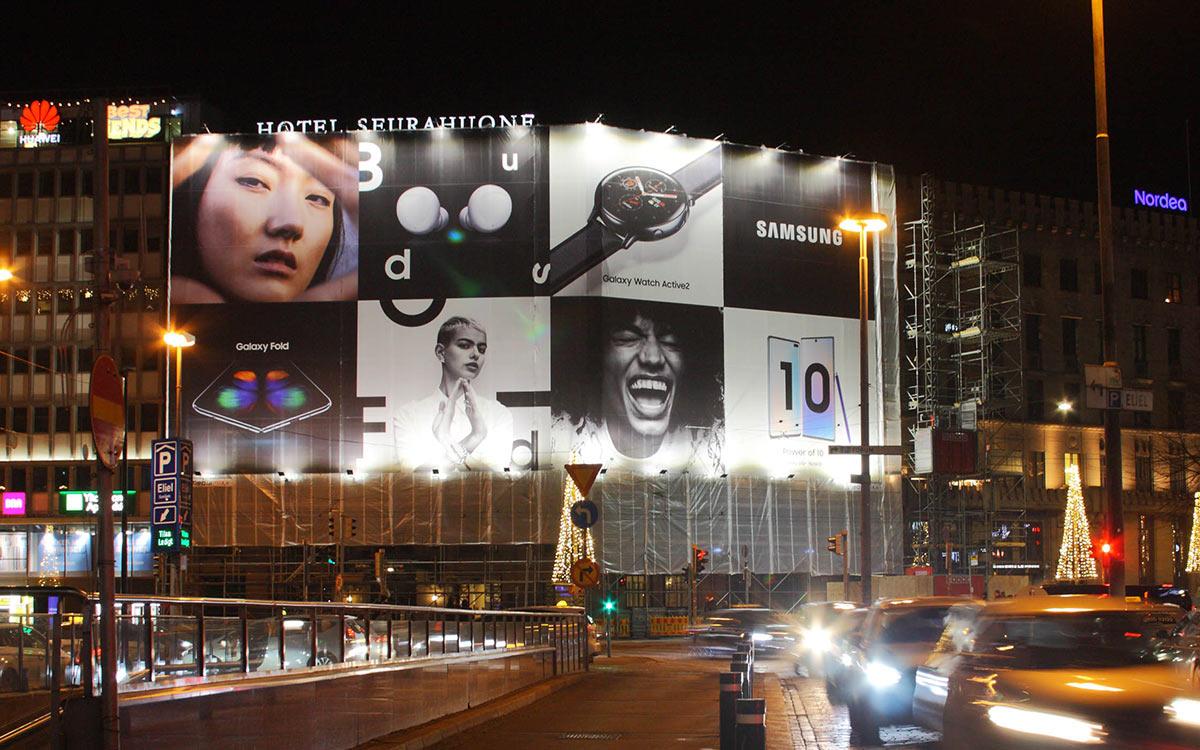Mediamix Jättimedia Helsinki Wall 720 Samsung