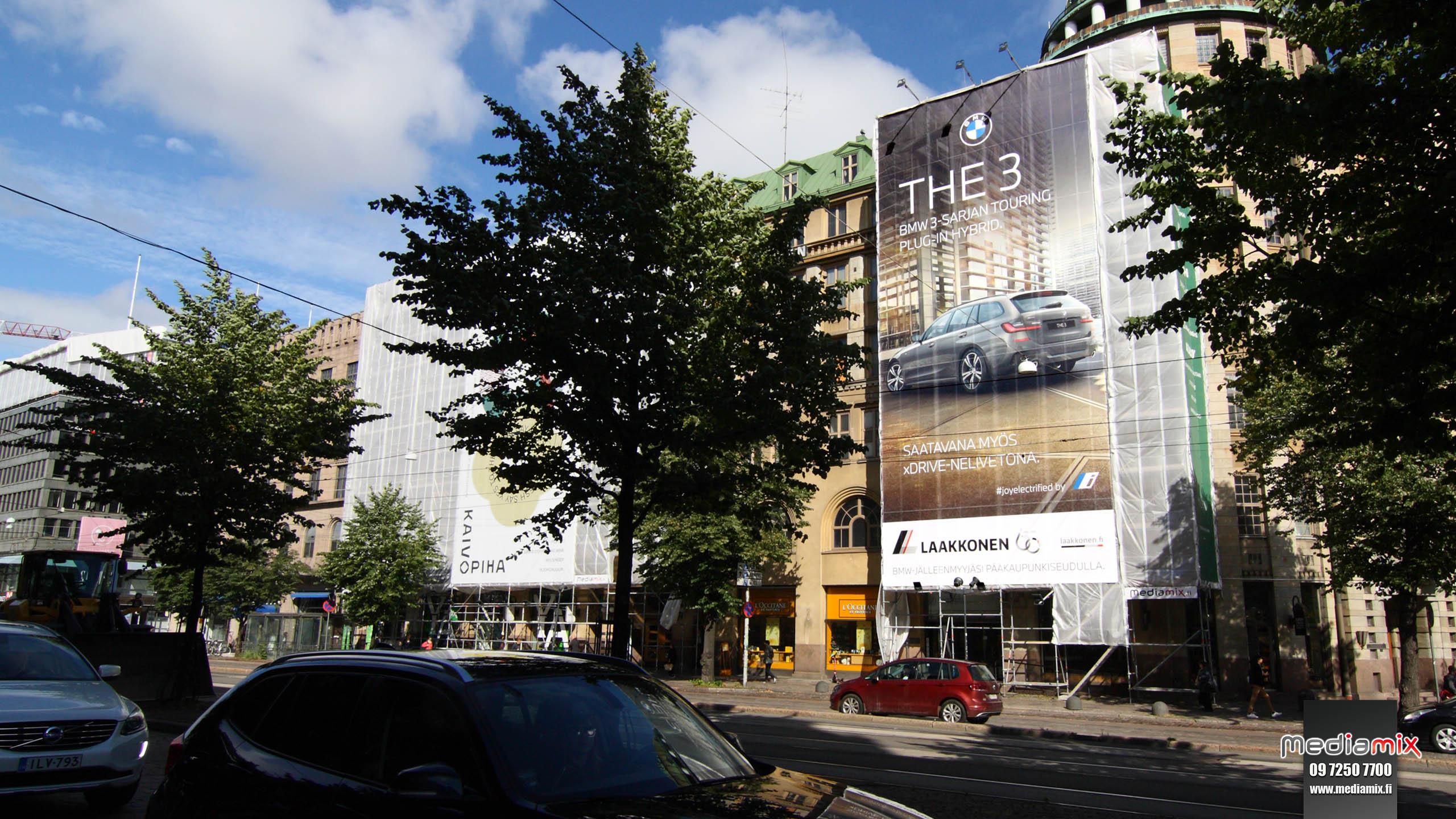 Mediamix jättimedia Helsinki Wall 200 Laakkonen