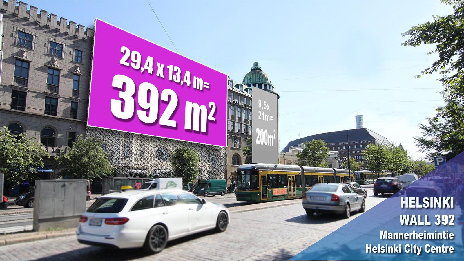 Mediamix jättimedia Helsinki Wall 392
